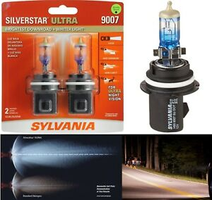 Sylvania Silverstar Ultra 9007 Hb5 65 55w Two Bulbs Head Light Plug Play Upgrade