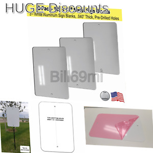 12 X 18 Metal Sign Blank White Aluminum 040 3 3
