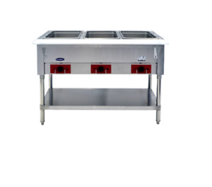 New 3 Well Pan Electric Steam Table Dry Heating Atosa Cstea 3 8424 Etl nsf
