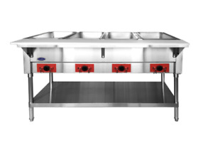 New 4 Well Electric Steam Table Dry Bath Heating Pans Nsf Atosa Cstea 4c 8432