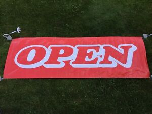 Large Vinyl Advertising Open Sign Banner 48 X 141 With Grommets