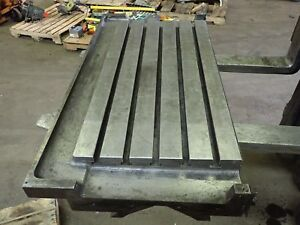 43 25 X 22 X 5 75 Steel Weld 5 T slot Table Cast Iron Layout Plate
