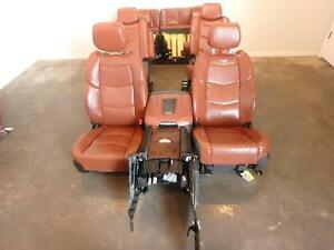 2015 2018 Cadillac Escalade Brown Leather Front rear Seats W console 2nd 3rd Row