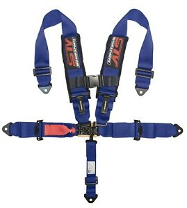 Stv Motorsports Universal Blue 5 Point Racing Safety Harness Seat Belt 3 Inch
