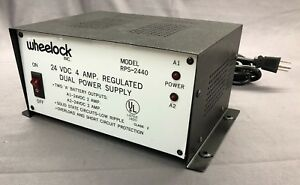 Wheelock 24 Vdc Dual Output Regulated Power Supply Rps 2440 Brand New