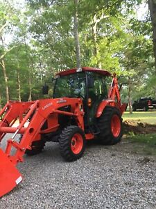 2017 Kubota L4760hsc Backhoe Loader Tractor Bt 93 Backhoe