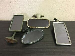 Lot Of 4 Vintage Car Side And Rear View Mirrors