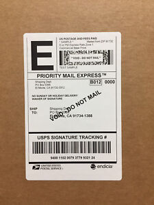 220 Self adhesive Extra large Shipping Label For Labelwriter Printer White 4x6