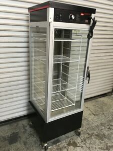 Heated Glass Pizza Display Case Hatco Pfst 1x 6864 Commercial Warming Cabinet