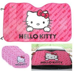 5pcs Hello Kitty Sun Visors Shade Car Cover Windshield Auto Front And Rear Side