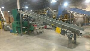 Cumberland Model 30 Granulator Grinder 100 Hp Solid Rotor With 24 Conveyor