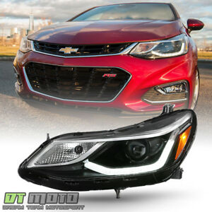 2016 2018 Chevy Cruze Projector Style W Led Drl Headlight Headlamp Driver Side