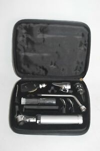 Adc 2 5v Portable Otoscope Opthalmoscope Complete Diagnostic Set With Case