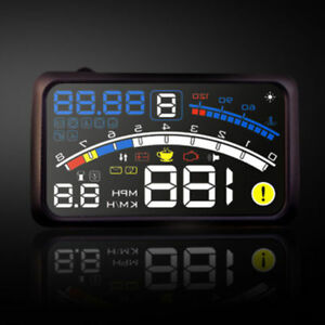 4e 5 5 Car Hud Head Up Display Obd2 Dashboard Mounted Projector Speed Warning