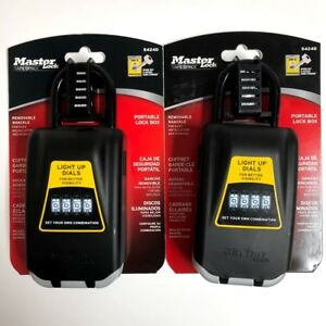 Master Lock Lock Box Key Safe With Light Up Dials 2 7 8 In Wide 5424d 2 Pack