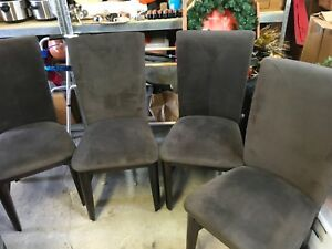 Set Of Four Upholstered Side Dining Chairs
