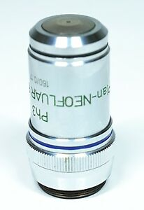 Zeiss Ph3 46 18 37 Plan neofluar 63 1 25 Oil 160 0 17 Microscope Objective Lens