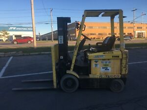Hyster 4 Wheel Sit Down Forklift 6000lb Cap 182 Lift 42 Forks hd 36 V W chgr