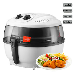 New 6qt White Electric Air Fryer Timer Temperature Oil less Griller Roaster