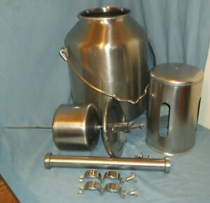Surge Stainless Steel Milker Milk Line Washer Tank W Lid Pipe Dairy Equipment