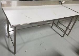Amtekco Stainless Steel Poly Trimming Table 72 X 30 Commercial Kitchen Tables