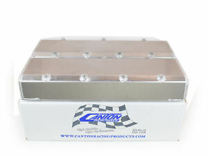 Canton 65 400 Valve Covers For Big Block Chevy Aluminum With Hardware Blemished
