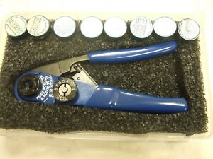 Astro M22520 2 01 Crimper 8 Dmc Daniels Positioner Crimp Tool Milspec Contacts