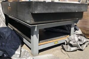 Ace Granite Surface Plate Company Granite Table W Stand 48 X 96