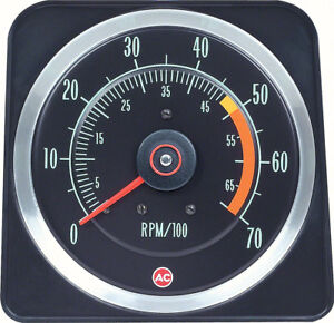 Oer 6469381 1969 Chevrolet Camaro Ss 350 5 X 7 Tachometer With 5000 Red Line