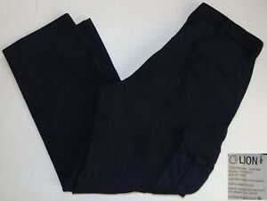 Lion Nomex With Kevlar Fire Resistant Cargo Work Pants Navy Blue Size