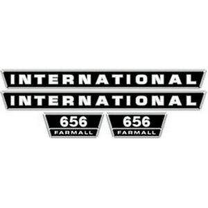 New 656 International Harvester Farmall Tractor Hood Decal Kit Quality Vinyl
