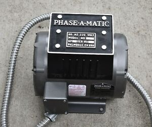 Phase a matic Rotary Phase Converter R 3 220 3hp Barely Used