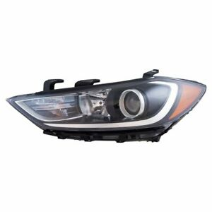 Halogen Headlight Headlamp Assembly W Led Running Lights Lh Lf For Elantra New