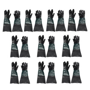 10 Pair Of Durable Pvc Sandblasting Gloves For Sandblast Cabinets 60cm