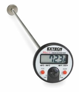 Extech Digital Pocket Thermometer Plastic 5 In 392052