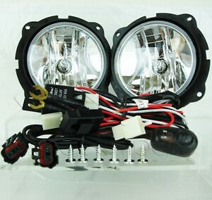 For 2007 2012 Ford Escape Fog Light Chrome Lamp W wiring Switch Relay Clear