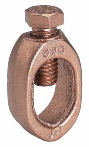 Burndy Ground Rod Clamp Copper Alloy Commercial Type 1 Awg To 10 Awg