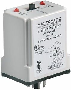 Macromatic Alternating Relay 10 Amps 240vac 8 Pins Dpdt Cross wired