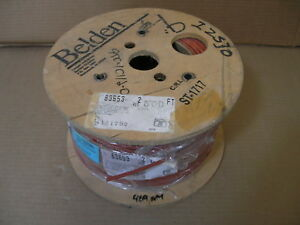100 Ft Belden 83653 Red Shield Plenum 18 Awg Cable Wire 3c Teflon