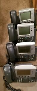 Lot Of 4 Cisco 7940g Office Phones