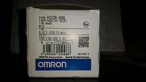 Omron H3cr h8l Timer Power Off Delay 120 Vac New In Box