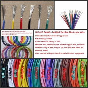 8awg 24awg Flexible Electronic Wire Rc Cable Resistant High Temperature 600v