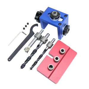 Heavy Duty Aluminum Pocket Hole Jig Kit Woodworking Joinery Drill Locator