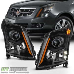 Left Right 2010 2016 Cadillac Srx Halogen Headlights Black Headlamps Replacement