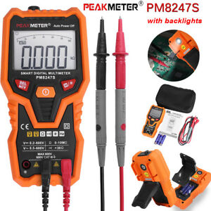 Peakmeter Pm8247s Smart Auto Range Digital Non Contact Multimeter With Backlight