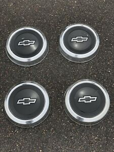 4 1960 s Chevy Dog Dish Hubcap C10 Pick Up Wheel Covers Hubcaps Vintage Cap