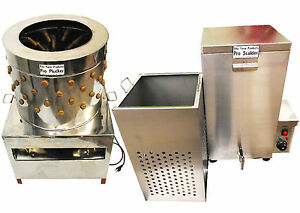 Rite Farm Products Large Pro Chicken Plucker 18 5 Gal Scalder Combo Poultry