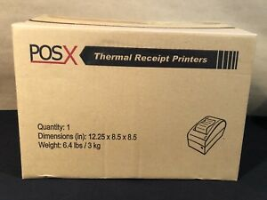 Pos x Xr510s Point Of Sale Thermal Receipt Printer Black Serial Interface