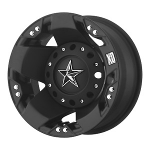 1 New 94 16x6 Kmc Xd775 Rockstar Matte Black 8x165 1 Rear Dually Wheel Rim