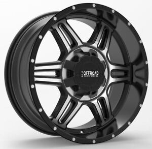 17 Gloss Black Machine Wheel Fits Ford Lincoln Dodge Ram Qty 4